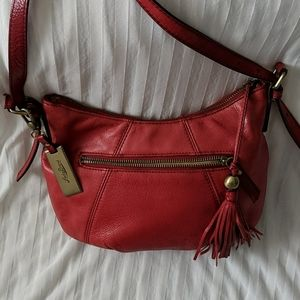 Lucky Brand Bright Red Leather Crossbody